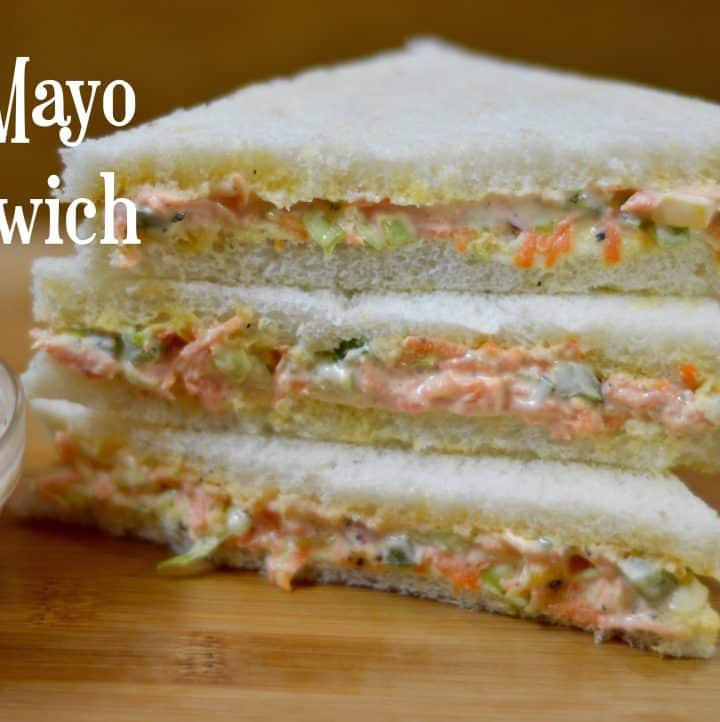 Veg Mayonnaise Sandwich |Kids Lunchbox Recipe