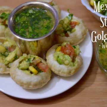 Mexican Style Golgappa with Fruit Pani| Pani Puri Mexican Style