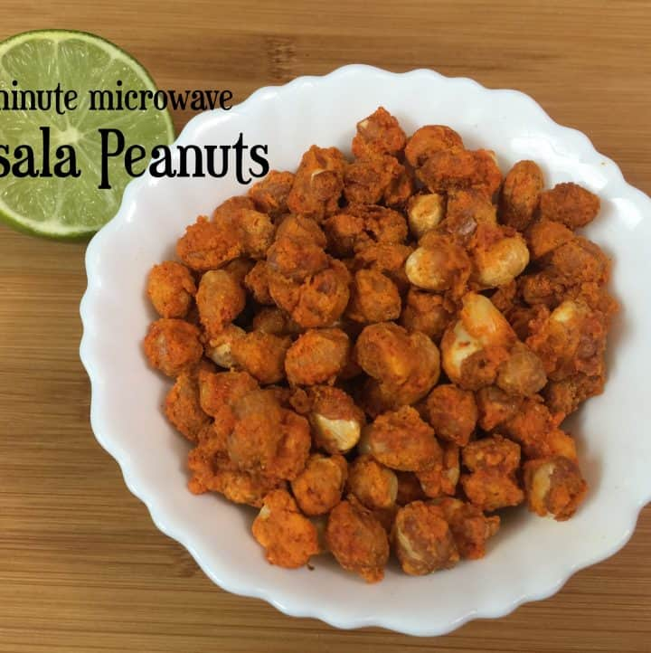 Masala Peanuts - 3 Minutes Microwave Method|Cocktail Snack