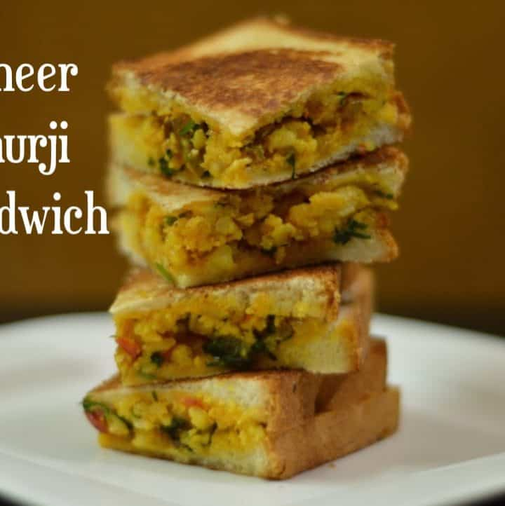 Paneer Bhurji Sandwich|Paneer Sandwich|Kids Lunch Box Recipe