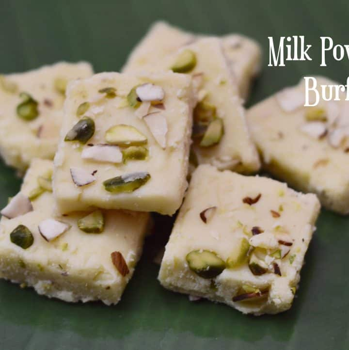 Milk Powder Burfi|Instant Burfi under 10 minutes