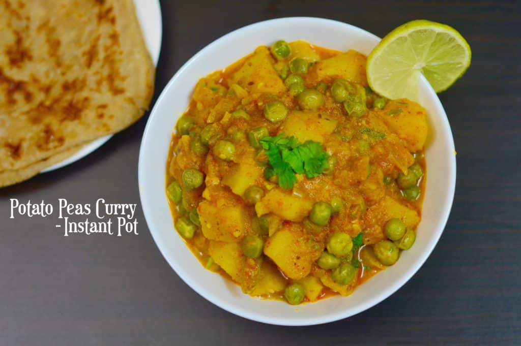 INSTANT POT Potato Peas Curry|Aloo Matar ki Subji