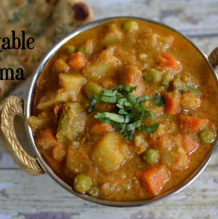 Vegetable Kurma Instant Pot|Mix Veg Korma