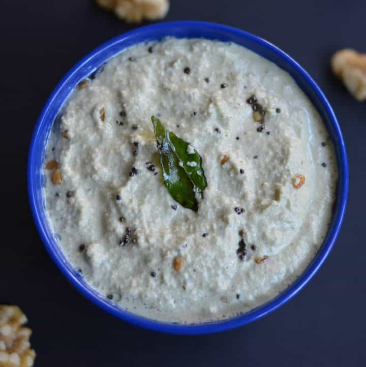 Walnut Chutney|Side dish For Idli,Dosa