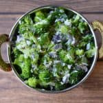 Broccoli Poriyal|Broccoli Stir Fry with fresh coconut