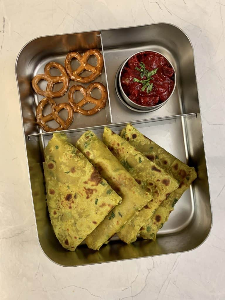 lunchboxidea11 avocado paratha
