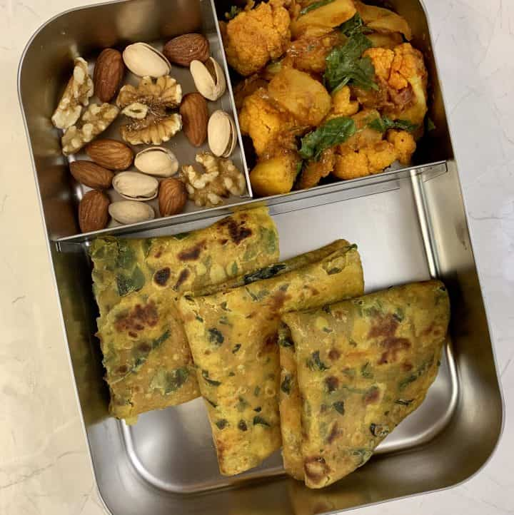lunchboxidea21 drumstick leaves paratha