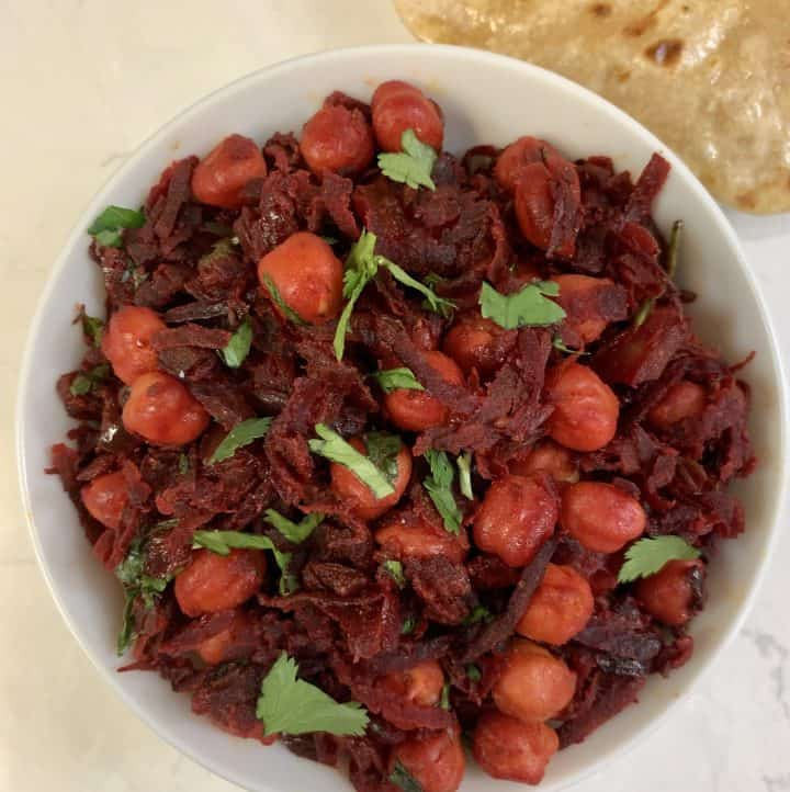 beetroot chickpea dry