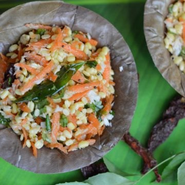 A South Indian style Moong dal-Carrot salad recipe is simple ,quick and easy made up of moong lentils rich in protein and vitamins.|indianveggiedelight.com