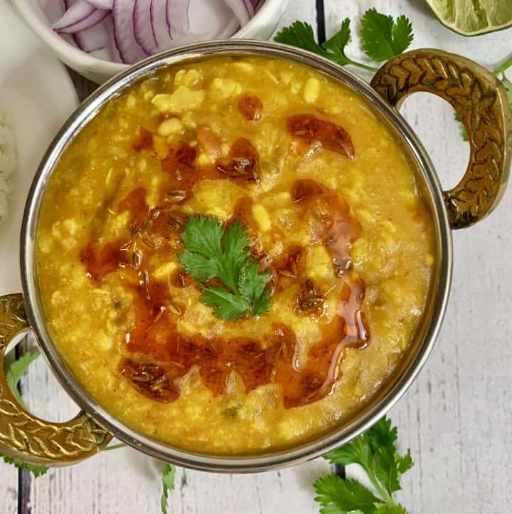 Panchmel dal is Indian dal prepared with five varieties of lentils or dals and is a great accompaniment for Indian flatbreads, rice
