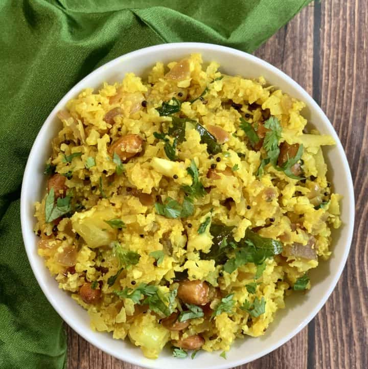 cauliflower poha keto