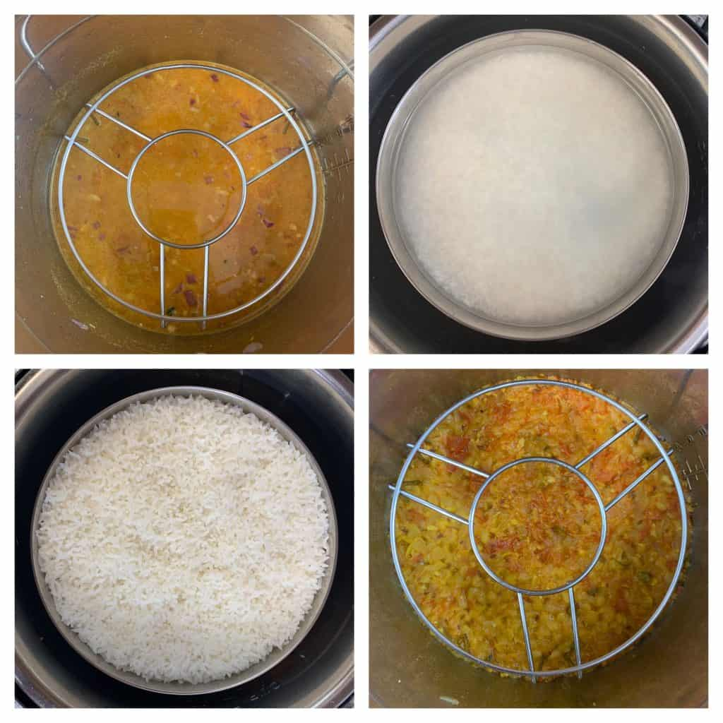 steps to cook rice and dal pot in pot collage