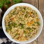 flavourful sih made of quinoa and vegetables