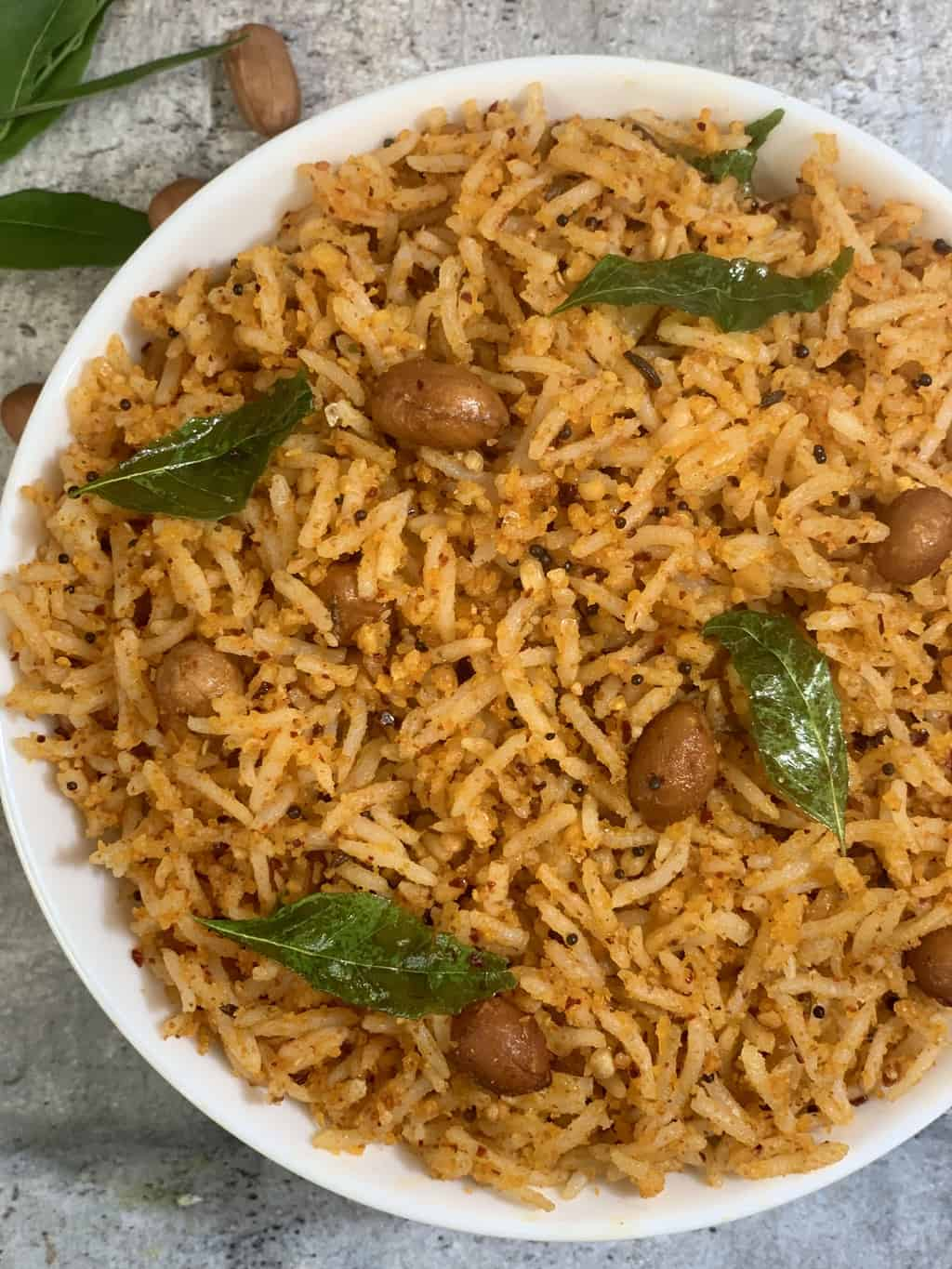 Peanut Rice Recipe is a delicious and flavorful south indian rice made with roasted peanut powder, lentil and spices