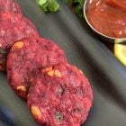 Beetroot Tikki|Beetroot Cutlet