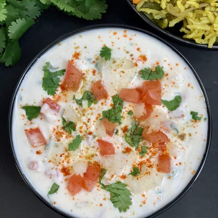 onion tomato raita recipe