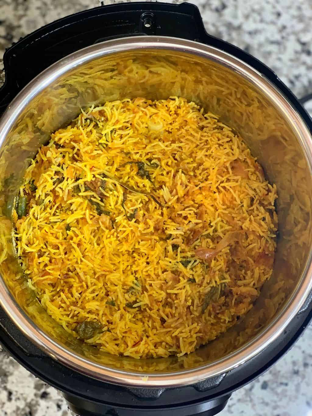 Pressure Cooker Vegetable Biryani recipe