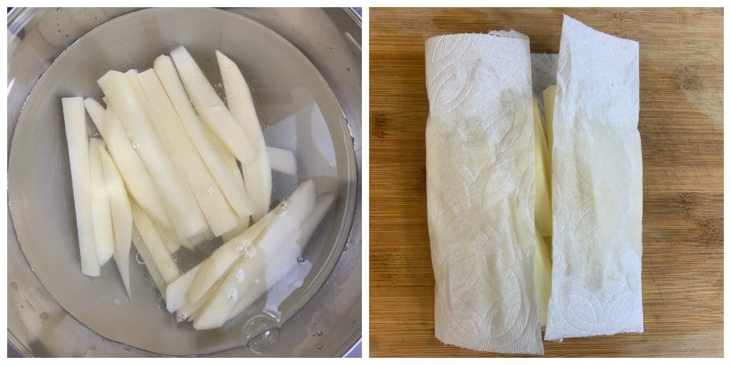 soaking potato fries for french fries