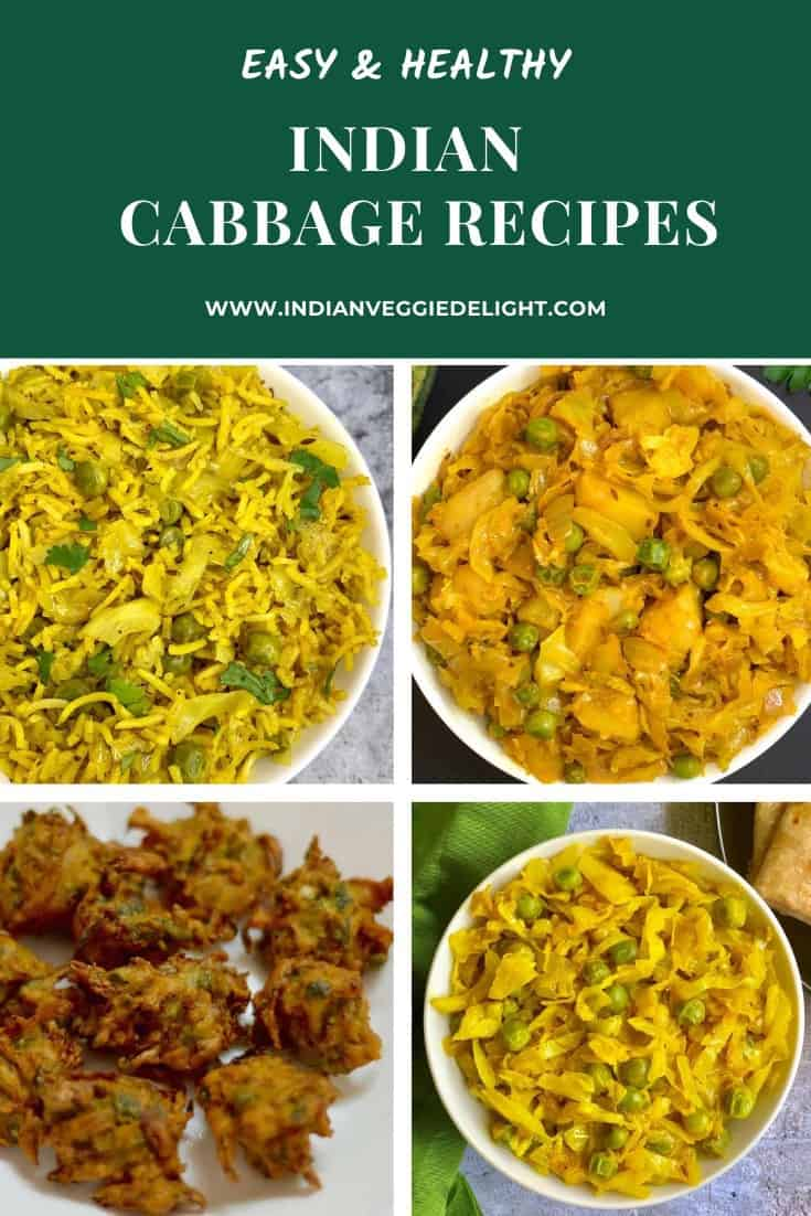 Indian Cabbage Recipes Indian Veggie Delight