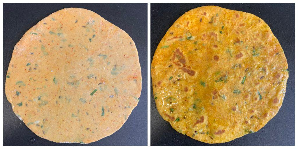 fry the paratha
