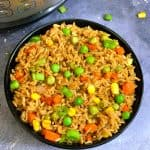 instant pot vegetable fried rice