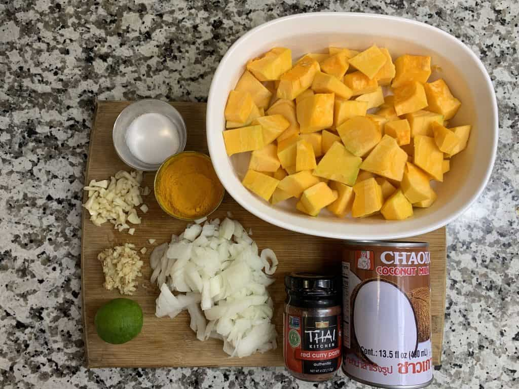 pumpkin/kabocha squash soup ingredients