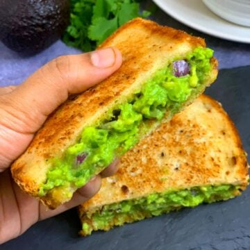 Guacamole Sandwich Recipe Indian Veggie Delight